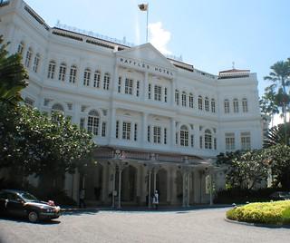 Outside Entrance to Raffles Hotel