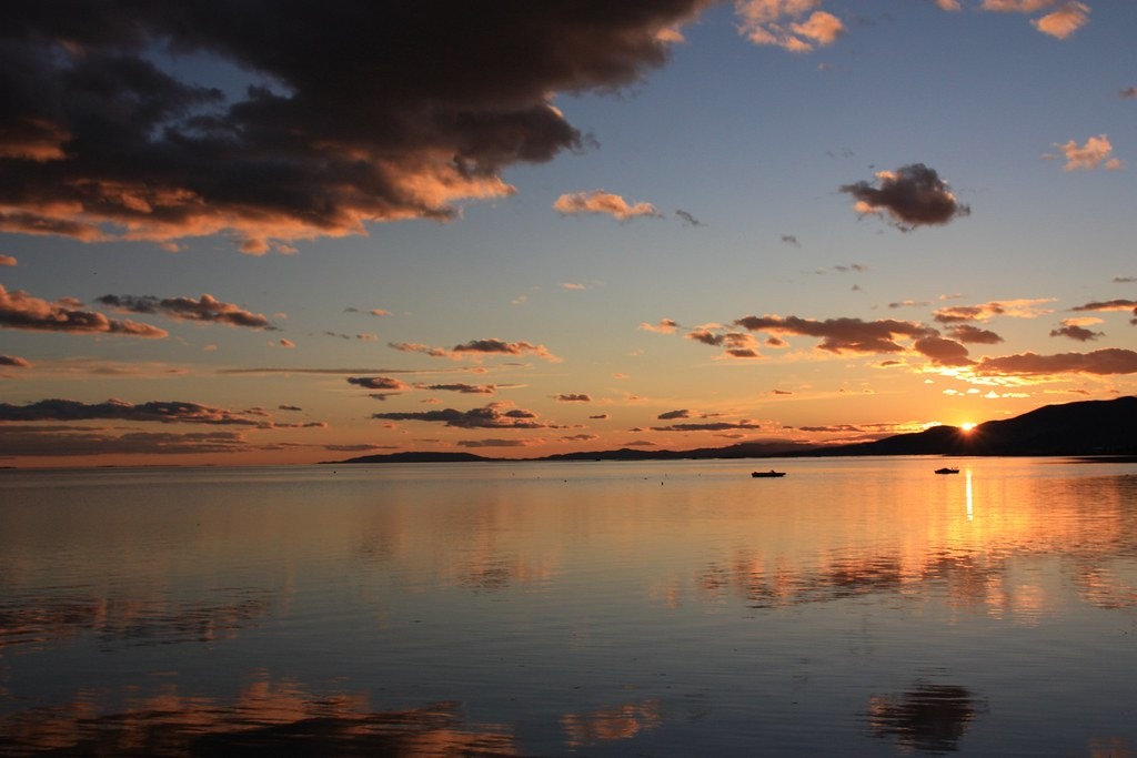 posta de sol a la badia dels Alfacs