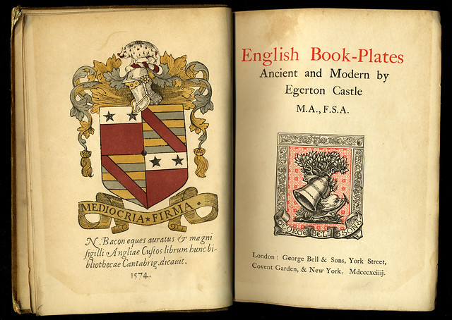 English Book-Plates Ancient and Modern by Egerton Castle 1894