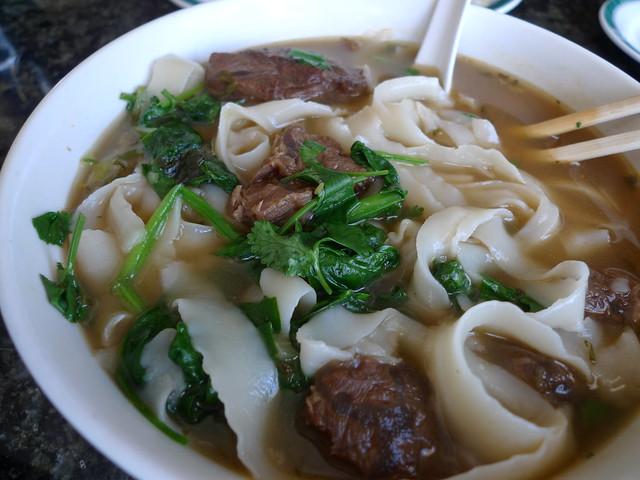 Beef Noodle Soup with Knife Cut Noodles