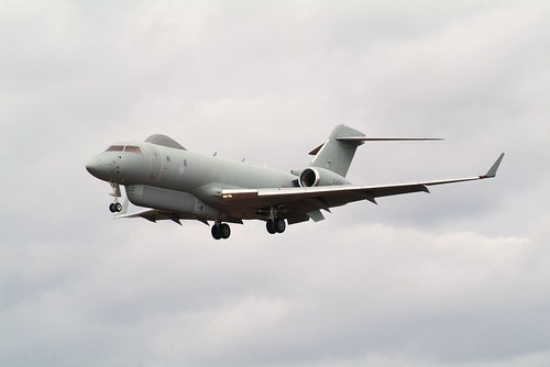 Sentinel R.1 ZJ692 5 Sqdn. RAF Landing at RAF Waddington
