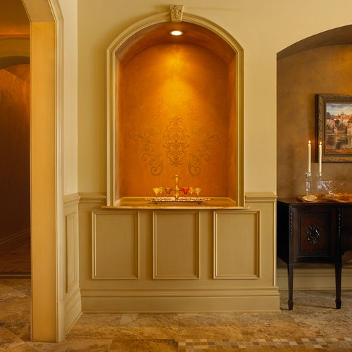 Dining room niche new construction designs in michigan for Dining room niche ideas