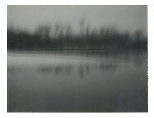 early on the lake (pinhole)