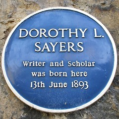 Photo of Dorothy L. Sayers blue plaque