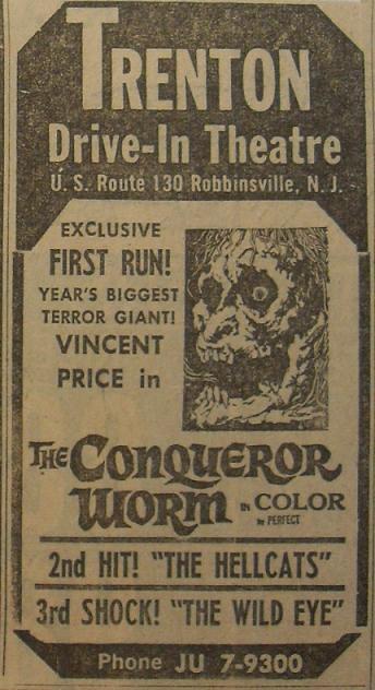 1968 the conqueror worm vincent price trenton 1960s drive