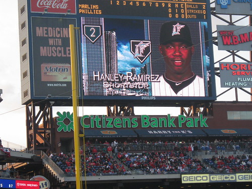 Hanley Ramirez - Florida Marlins at Philadelphia Phillies 17 April 2010