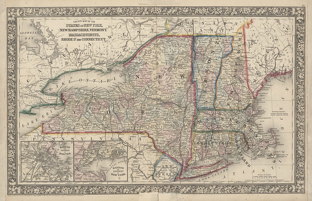 Map Of New York New Hampshire Vermont Massachusetts
