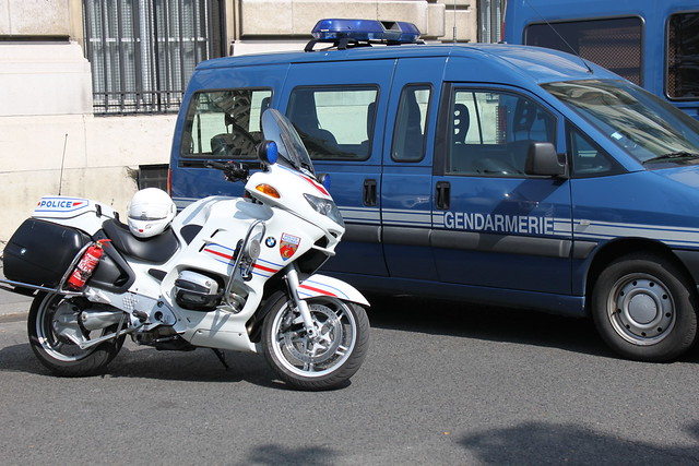 The French National Police in Paris