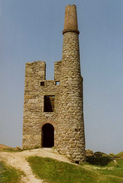 Ding Dong Mine engine house, Penzance Cornwall. may 1992 ...