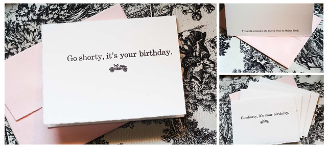 Go shorty, it's your birthday - Handmade Card