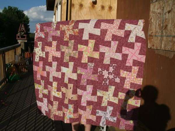 Windmill quilt without border