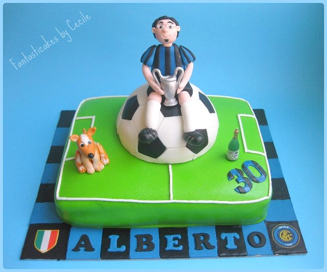 Torta Calciatore dell'Inter  / Inter Soccer Player Cake