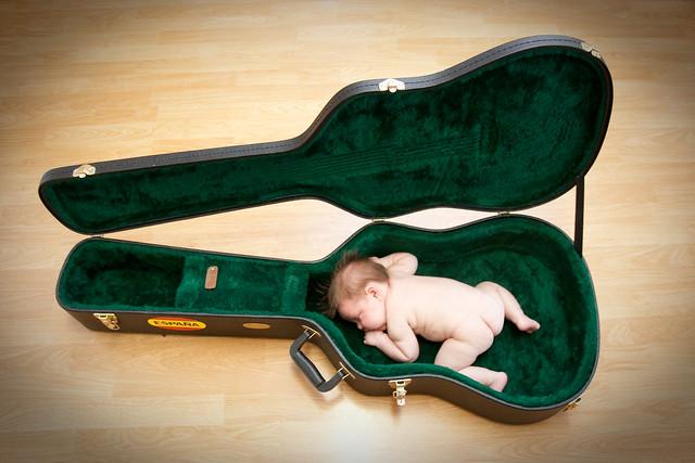 Niece in Guitar Case