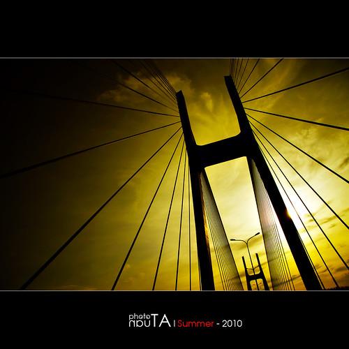 bridge silhouette sunrise landscape vietnam saigon hdr mywinners phumybridge
