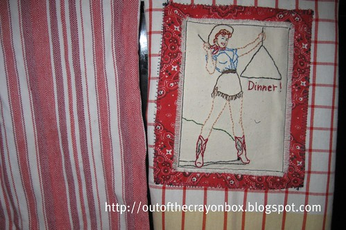 Embroidered Dishtowel