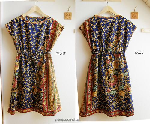 My first dress. A batik dress.