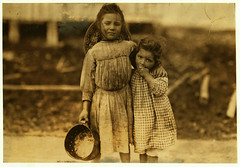 Lewis Hine: Maud & Grade Daly, 5 and 3 years old, shrimp pickers, Bay St. Louis, Mississippi, 1911