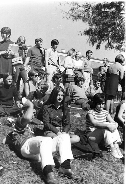 Students on Pep Bowl Grass_1970