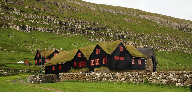 1000 year old Kirkjubøargarður, once home of a Viking king. One of the oldest inhabited wooden houses in the world.