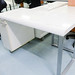 White gloss desk comes with storage E160
