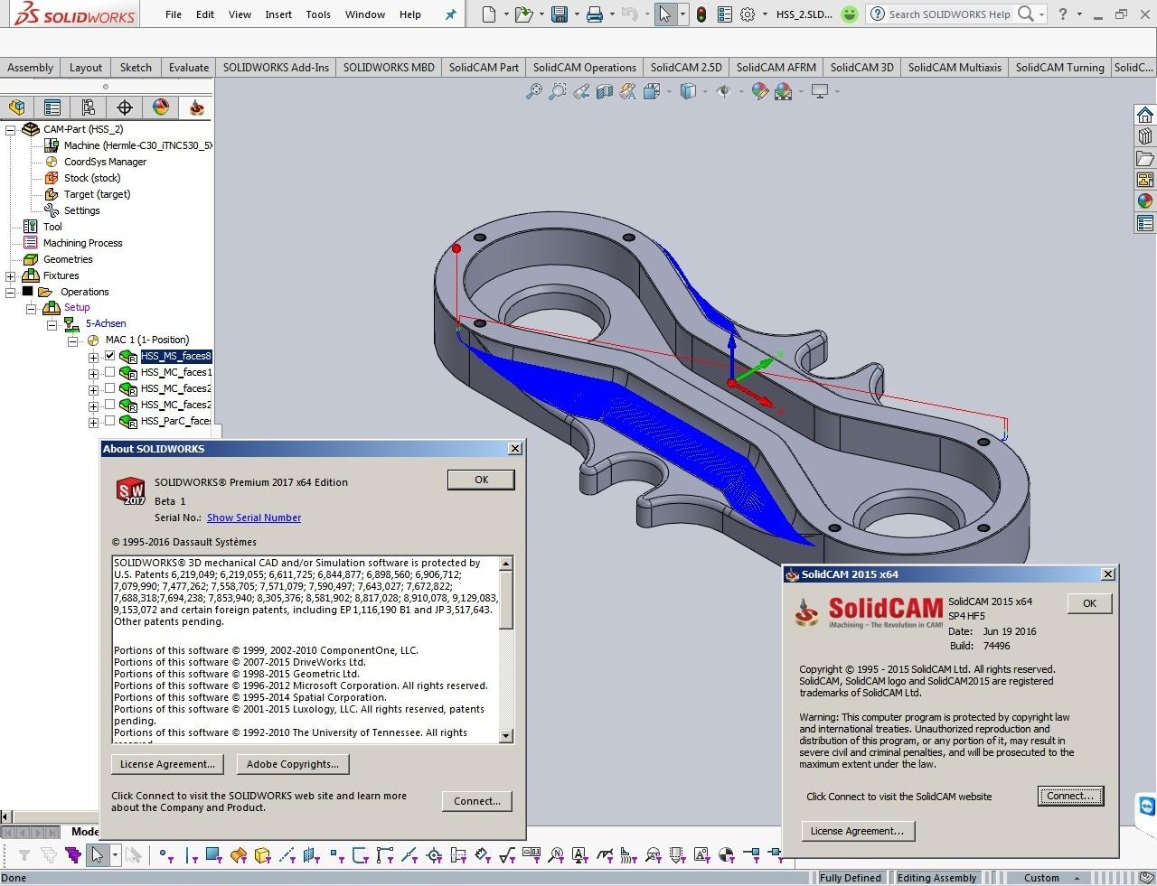 SolidCAM 2015 SP4 HF5 Multilang for SolidWorks 2012-2017 full license