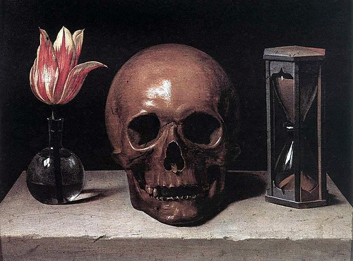 Champaigne, Philippe de (1602-1674) - Still Life with Skull (Private Collection) by RasMarley