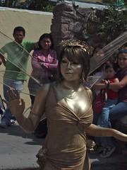 Golden Fairy Human Statue; Tepotzotlán, Mexico