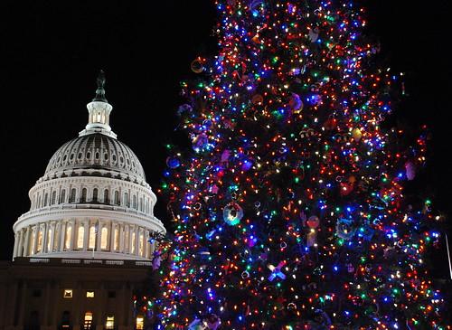 Штаб-квартира Конгресса США в Вашингтоне в период праздников, автор: afagen, источник: flickr.com