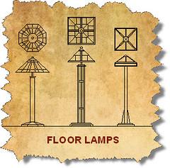CAD Floor Lamps Blocks Mission-12