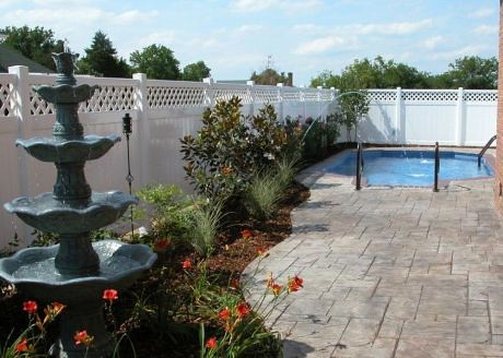 Designed to make use of a small backyard area, our patio pool was a hit during the Parade of Homes, and this home was voted Peoples Choice award winner.