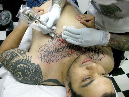 Tatuagem Minha Familia minha Vida Tattoo script