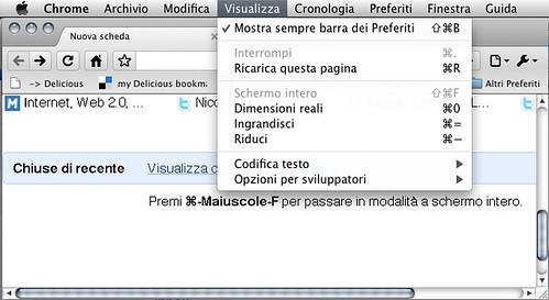 Google Chrome - Schermo intero? Non su Macintosh!