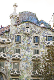 Famous building designed by Gaudi - Barcelona
