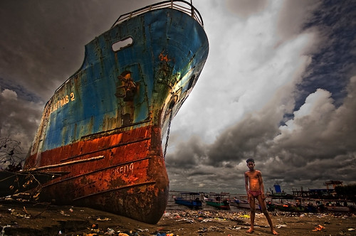 ocean sea man abandoned beach indonesia rotterdam asia ship south made huge sulawesi makassar benteng akku