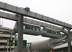 vehicle, transport, public transport, monorail, overpass, facade,