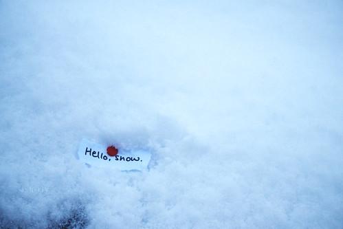Hello, snow.
