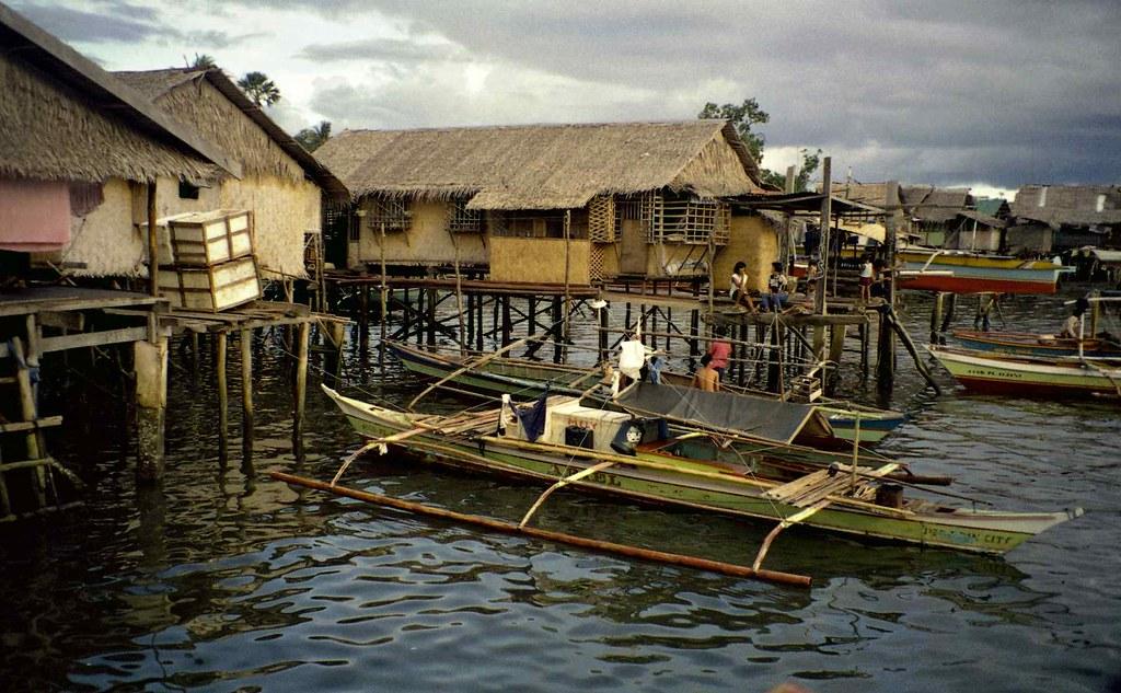 Houses On Stilts Puerto Princesa Palawan Philippines