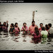 Baptising of indigenous people, Lake Atitlan