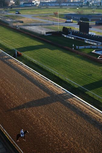 morning horses race training sunrise track kentucky roadtrip louisville workout derby churchilldowns millionairesrow