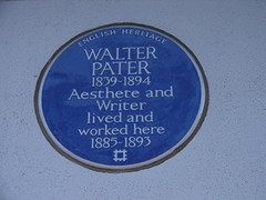 Photo of Walter Pater blue plaque