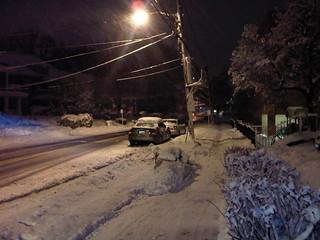 Aycrigg Avenue, blizzard