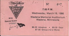03/19/86 Mylon LeFevre & Broken Heart/Found Free @ Wadena, MN (Ticket)