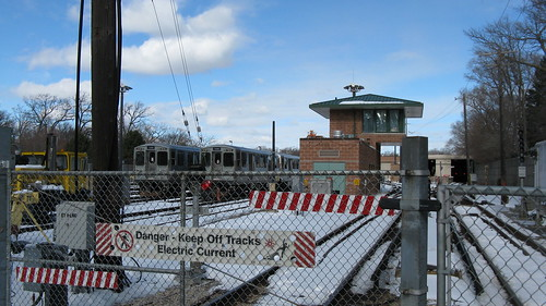 The CTA Linden Avenue purple line terminal and yard. Wilmette Illinois. February 2010. by Eddie from Chicago