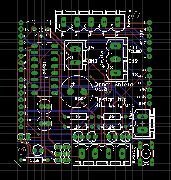 Arduino robotics shield tufts club