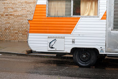 automobile, van, vehicle, transport, trailer, land vehicle, travel trailer,