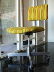Sold Striped Mod Task Chair 08