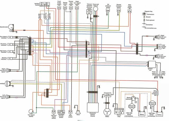 1990 harley fxrs wiring diagram 1990 harley davidson wiring diagram