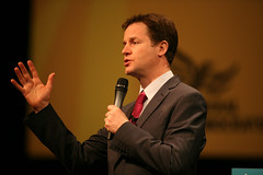 Nick Clegg could face tough decisions over whether to support new government policies.  Image from the Liberal Democrats' photostream