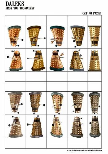 Cardstock - Paz090 - Doctor Who Modern Daleks-PaZZa