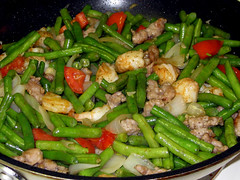 Green Beans Pork and Shrimp
